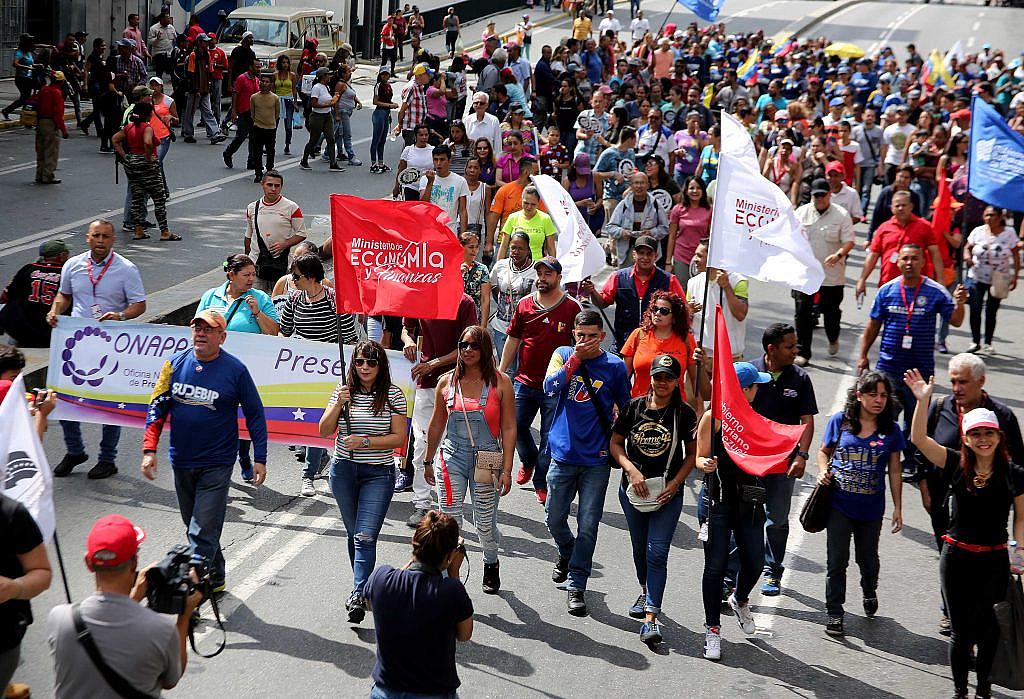 Trabajadores y trabajadoras del  MPPEF  marcharon contra el fascismo