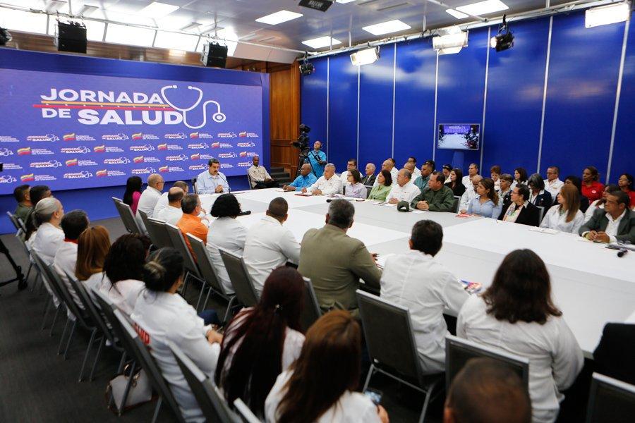 Presidente Nicolás Maduro lideró mesa de trabajo con el Sistema Público Nacional de Salud