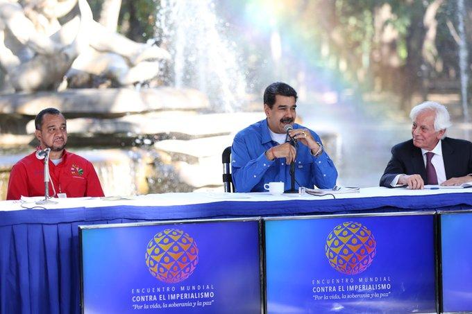 Jefe de Estado lideró clausura del Encuentro Mundial contra el Imperialismo